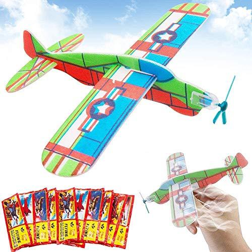 Planeur Avion Set, BESTZY Avion en Papier, Avions Planeurs Volants, Cadeau d'anniversaire pour Enfant, Donnez à la fête d'anniversaire pour Enfant Fête Loot Bag Stocking Fillers Fun - 24Pcs