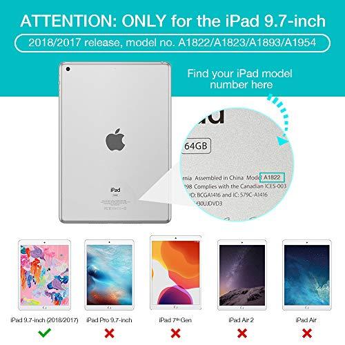 ESR iPad 2017 iPad 9.7 Zoll Hülle, Ultra Dünn Cover Auto aufwachen/Schlaf Funktion Smart Case Wickelfalz Ledertasche mit Lichtdurchlässig Rückseite Abdeckung Schutzhülle für iPad 9.7 2017 (Gold) - 5