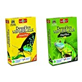Bioviva - Juego De Cartas Desafíos Naturaleza Insectos (Asmodee Ade0Des06Es) + Juego De Cartas Desafíos Naturaleza Reptiles (Asmodee 308), Color/Modelo Surtido