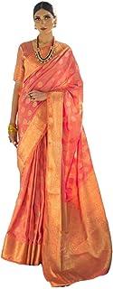 handloom Weaving 2 Tone Silk saree Rich Zari Work Indian Traditional Woman Party Sari Blouse Muslim 5353