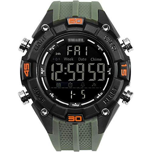 Reloj Digital-50m deportes for hombre relojes impermeables Militar digital, correa de silicona, Deporte cara grande al aire libre reloj de pulsera, for los jóvenes y for hombre-E fengong ( Color : A )