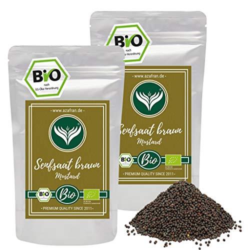 Azafran BIO Senfsaat braun Senfsamen / Senfkörner zum Senf herstellen 500g