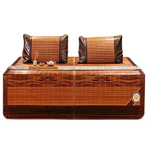 Colchón Bamboo,Esterilla De Bambú De Hielo, Esterilla Enfriamiento Verano Plegable para El Dormitorio De La Escuela En Casa
