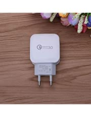 QC 3.0 Adaptador de Carga rápida rápida Viaje a casa Enchufe de CA Teléfono Cargador de Pared USB Accesorios para teléfonos móviles Enchufe de la UE de EE. UU. - Enchufe de la UE Blanco
