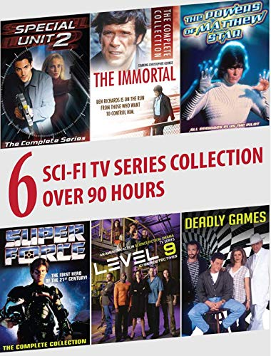 6 Sci-Fi Series Collection: Special Unit 2, The Immortal, The Power of Matthew Star, Super Force, Level 9, Deadly Games [RC 1]