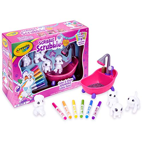 Crayola Scribble Scrubbie Pets Scrub Tub Animal Toy Set, Gift for Kids, Ages 3, 4, 5, 6