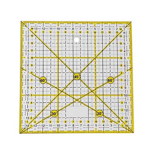 Regla Regla De Acrílico Para Ropa 30 ° / 45 ° / 60 ° / 90 ° Regla De ángulo 15 * 15 Cm Oficina