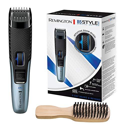 Remington Barttrimmer Herren B5 Lithium (Netz-/Akkubetrieb, Micro-USB Ladefunktion, Aufbewahrungstasche, 17 Längeneinstellungen 0,4-18mm) Haarschneidemaschine, Bartschneider MB5001 [Amazon Exklusiv]