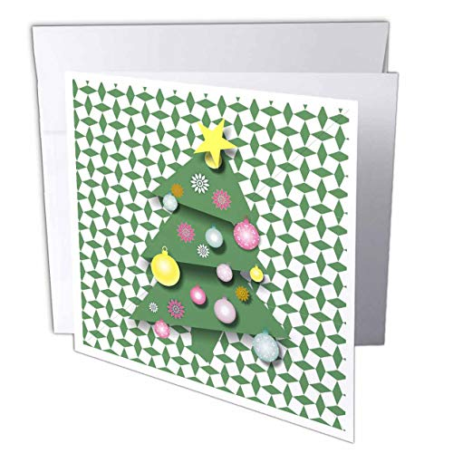 Crazy Christmas Tree–Grußkarte, 15,2x 15,2cm, Single (GC 97887_ 5)