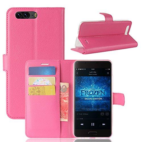 Litao-Case CN Hülle für Blackview P6 hülle Flip Leder + TPU Silikon Fixierh Schutzhülle Case 1