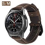 MroTech Bracelet Gear S3 en Cuir 22mm Bracelet de Montre Bande de Poignet Compatible...