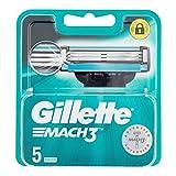 Gillette Mach 3 Recambio de Maquinilla de Afeitar para Hombre 5 Recambios
