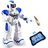 Zosam Remote Control Robots, Programmable Remote Control Robots, Intelligent Robot Toys, Birthday Gifts for Boys and Girls (Blue)