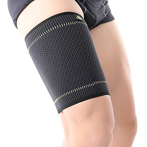 BrilliStar Thigh Compression Sleeve, Hamstring Compression Sleeve for Quad Pain Relief & Recovery, High Elastic Sports Thigh Support Protector Muscle Strain Leg Guard Brace for Women and Men