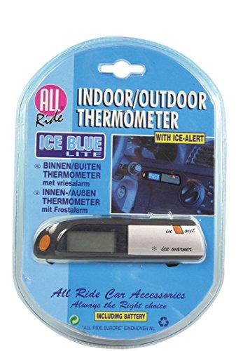 All Ride - Termómetro Para Coche Para Temperatura Interior Y Exterior
