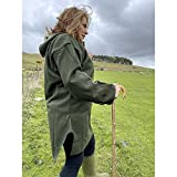 Swanndri Original Hooded Wool Bush Shirt Lace Up Jacket X-Large Green