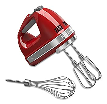 KitchenAid KHM7210ER 7-Speed Digital Hand Mixer with Turbo Beater II Accessories and Pro Whisk - Empire Red