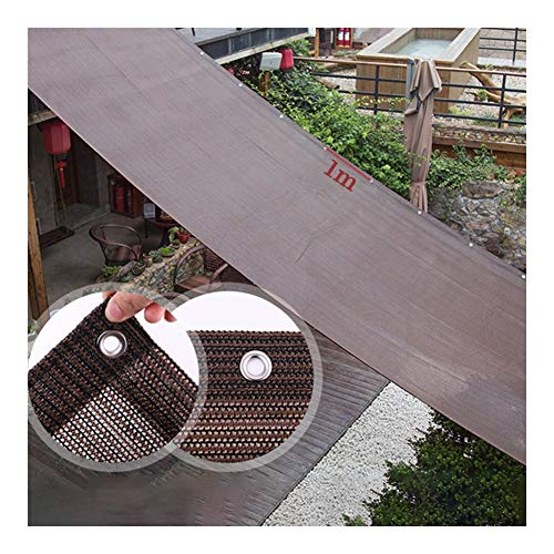 Shade Cloth, 90% UV Resistance Plant Cover Windshield Panel Greenhouse Backyard Flowers With Grommet Support Customization GGYMEI (Color : Brown, Size : 3x1m)