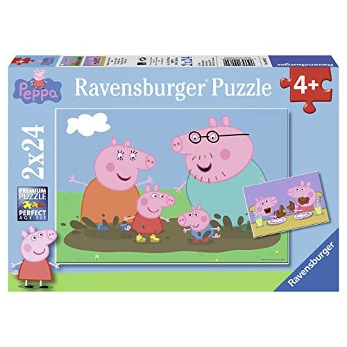 Ravensburger Italy Peppa Pig Puzzle, 2x24 Pezzi, Multicolore, 09082