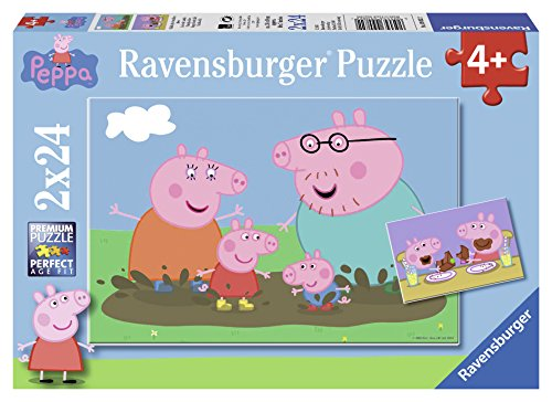 Ravensburger Italy- Peppa Pig Puzzle, 2x24 Pezzi, Multicolore, 09082