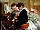 Poster 70 x 50 cm: Musikunterricht von Charles West Cope -