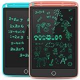 Tecboss Tableta de Escritura LCD 2 Paquetes, 8,5' Pulgadas Tableta Gráfica con 4 Imanes, Tablero de Dibujo Pizarras para Oficina en Casa Escuela