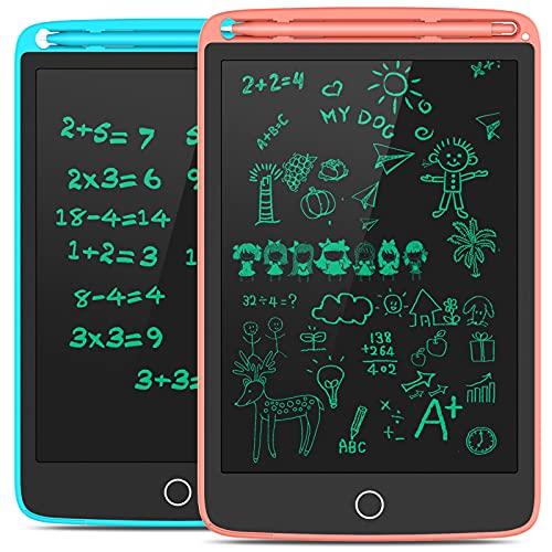 Preisvergleich Produktbild Tecboss LCD Schreibtafel 2 Pack,  8, 5 Zoll Zeichenbrett mit 4 Magneten,  löschbarem Handschriftblock,  tragbarem Notizblock,  elektronischem Kindertablett-Schreibblock für das Home School Office