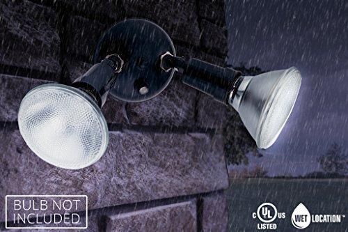 Lithonia Lighting OFTH 300PR 120 P BZ M12 Twin Par Holder Dusk to Dawn Outdoor General Purpose Flood Light, Grey Bronze