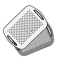 ✔️ This handy Serving Tray is ideal for use around the home and office to avoid any accidents. ✔️ Great as a serving tray or a lap tray, with grips on both sides to stop food or cups slipping around and keep the tray on your lap. ✔️ Ideal for all kit...