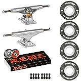 Skateboard Package Independent 139 Trucks 55mm 83A Black Cruiser Wheels Bones Reds