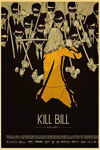 Kein Rahmen Kill Bill Vintage Nostalgic Poster Leinwand ng Drucken Büro Schlafzimmer Wohnkultur Moderne Wandkunst Öl ng Salon Pictures60x90cm