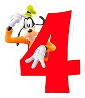 Vela 4 cumpleaños Mickey Disney Playful: Amazon.es: Juguetes ...