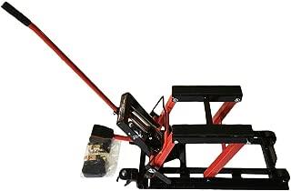 SUNROAD Motorcycle ATV Jack Lift Stand Quad Dirt Street Bike Hoist 1500 Lbs,Red