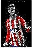 Iooie Leinwand Druck Poster Fernando Torres Fußball für