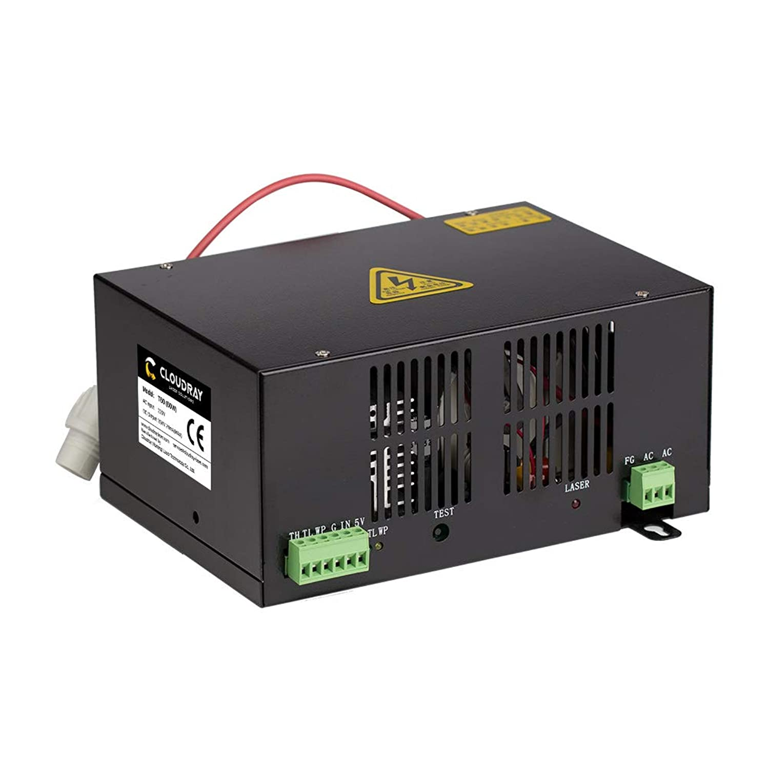 60W CO2 Laser Power Supply T Series HY-T60 Plus 110V for CO2 Laser Tube by Cloudray (Buy More Discounts)