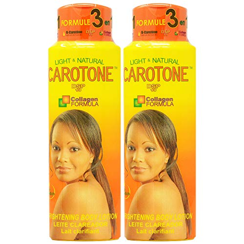 CaroTone Brightening Body Lotion 18.6oz (Pack of 2) with Free Roll On Perfume