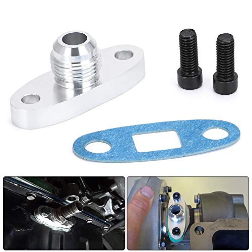 PTNHZ RACING 10AN Fitting T3 T4 Turbo Oil Drain Outlet Flange Gasket Adapter Kit