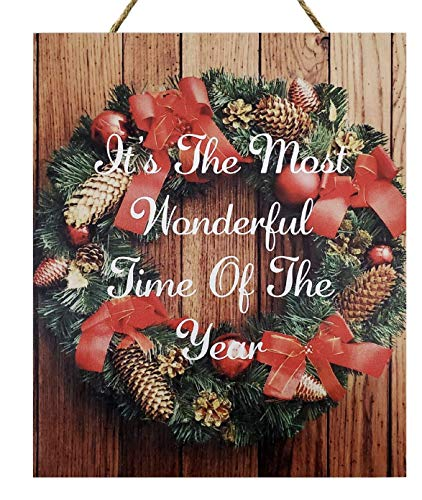 JennyGems Christmas Wood Sign | Christmas Decor | Christmas Decorations | Its The Most Wonderful Time of The Year | Made in The USA