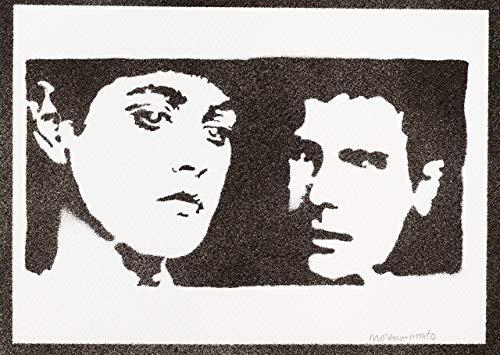 Poster Blade Runner Rachael y Rick Grafiti Hecho a Mano - Handmade Street Art - Artwork