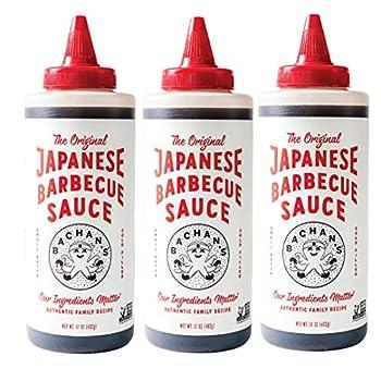 Bachan s - The Original Japanese Barbecue Sauce 17 Ounces Small Batch Non GMO No Preservatives Vegan and BPA free  3 pack