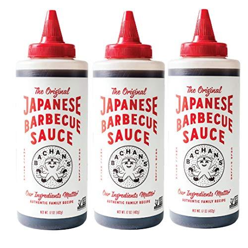 Bachan's - The Original Japanese Barbecue Sauce, 17 Ounces. Small Batch, Non GMO, No Preservatives, Vegan and BPA free (3 pack)