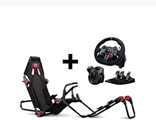 Next Level Racing F-GT LITE Formula and GT Foldable Simulator Cockpit + Logitech G29 Steering Wheel + Shifter