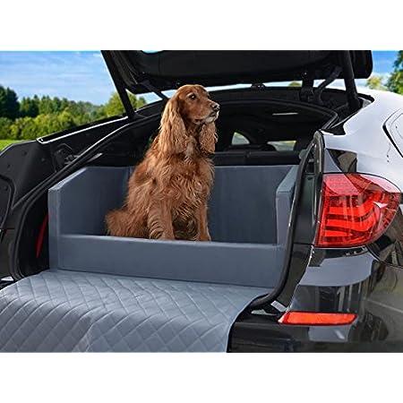 Padsforall Auto Hundebett Kofferraum Schutzdecke Autoschondecke In Grau Kunstleder Haustier