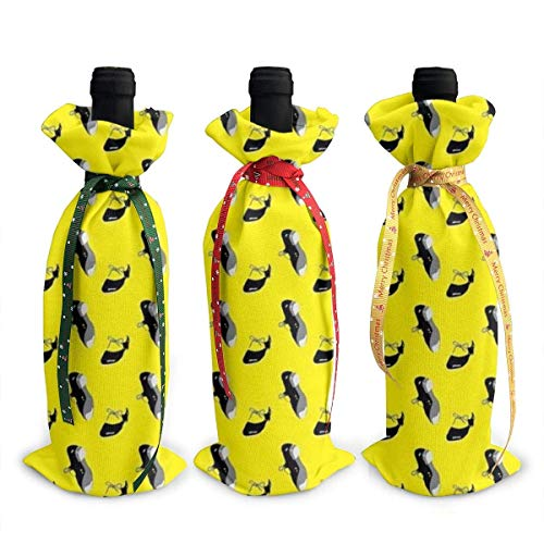 Baile Tap Zapatos Dancing Clo Navidad Botella de vino cubierta Decorativa - 3pcs Bolsas de vino tinto Regalo para fiesta Hotel Cocina Mesa Decoración