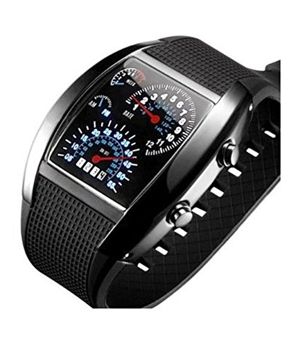 SILIKON DOT Matrix LED Watch Herren Uhr Damen Uhr BINÄRE Uhr