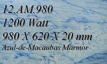 Calefacción por infrarrojos–Calefactor de infrarrojos eléctrico (mármol Magma Calefacción 1200W 12. AM.980