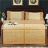 DFJU Topper de colchón con cojín de Dormir de Verano de ratán, 150X195cm