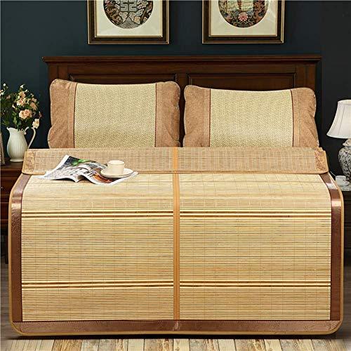 FGDSA Topper de colchón con cojín de Dormir de Verano de ratán, 150X195cm
