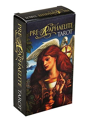 FEZD Pre Raphalite Tarot, Geheimnisvolles Fate-Weissagung Tarot-Deck, Gesellschaftsspiele Mit Kinder-Spaß-Spielführer (Tasche, Tischdecke)