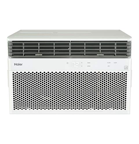 Haier Energy Star 8,000 BTU Smart Electronic Medium Rooms up to 350 sq ft. Window Air Conditioner, 8000 115V, White